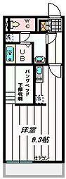 埼玉県富士見市水子の賃貸アパートの間取り