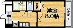 第49長栄ウィステリアヒルズm2[5階]の間取り