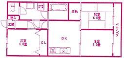 コスモマンション[6階]の間取り
