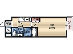サムティ都島北通 8階1Kの間取り