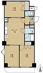 コートハイム横浜[4階]の間取り
