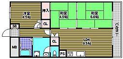 狭山ハウス3号棟[5階]の間取り