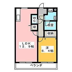 レスティア[2階]の間取り