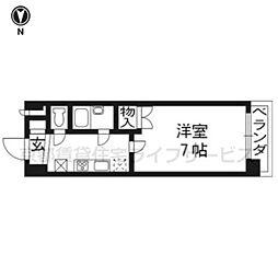 早川マンション[508号室]の間取り