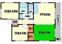 コーディアルマンション・金下町[2階]の間取り