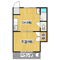 第1光マンション[3階]の間取り