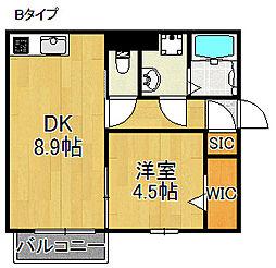 グランド関空[2階]の間取り