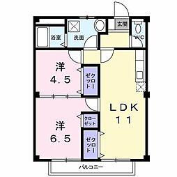 パルプラザB棟[2階]の間取り