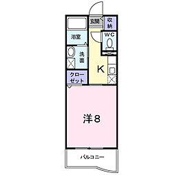 メゾン ソレイユ[3階]の間取り