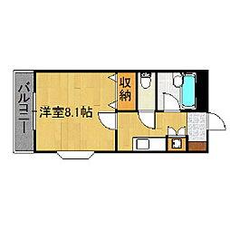 福岡県久留米市小森野5丁目の賃貸アパートの間取り