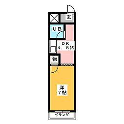 サンハイツ大山寺[2階]の間取り