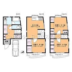 [一戸建] 東京都品川区旗の台3丁目 の賃貸【/】の間取り