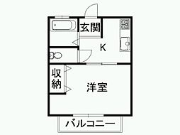 シティパル[1階]の間取り