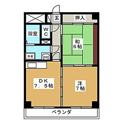 秋葉マンション[3階]の間取り