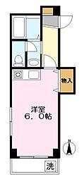 神奈川県川崎市多摩区菅稲田堤1丁目の賃貸マンションの間取り