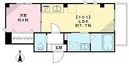 東京都大田区大森北6丁目の賃貸マンションの間取り