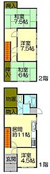 [一戸建] 北海道小樽市末広町 の賃貸【/】の間取り