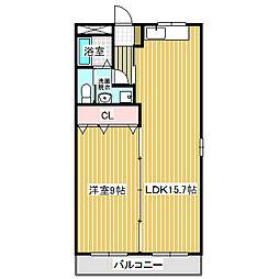 愛知県名古屋市中川区五女子町1丁目の賃貸マンションの間取り