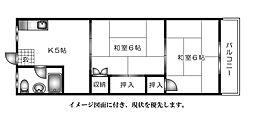 広島県広島市西区中広町2丁目の賃貸マンションの間取り
