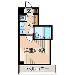ソリスト綱島[2階]の間取り