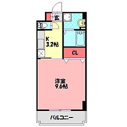 Osaka Metro谷町線 大日駅 徒歩5分の賃貸マンション 3階1Kの間取り