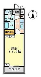 ヌーベルマリー[2階]の間取り