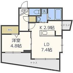 北海道札幌市中央区南八条西25丁目の賃貸マンションの間取り