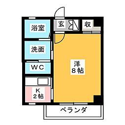 メゾンド銀乃杜[1階]の間取り