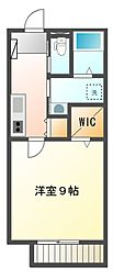 静岡県静岡市駿河区曲金4丁目の賃貸アパートの間取り