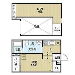 キューブハイツ2[2階]の間取り
