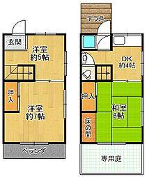 [一戸建] 兵庫県宝塚市中山荘園 の賃貸【/】の間取り
