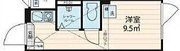 JR総武線 大久保駅 徒歩8分の賃貸マンション 3階ワンルームの間取り