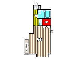 キャッスルマンション西川口駅前[4階]の間取り