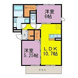 D-room半田大高町[A101号室]の間取り