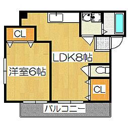 サードサークル2[3階]の間取り