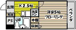トーカン東淀川キャステール[101号室]の間取り