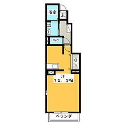 ブリーゼ大門[1階]の間取り