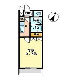 ピュアハート[102号室]の間取り