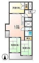 ユニバースビル[3階]の間取り