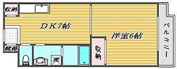 東京都板橋区小豆沢1丁目の賃貸マンションの間取り