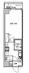 B CITY APARTMENT TOKYO NORTH[802号室]の間取り