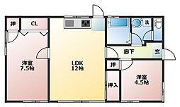 [一戸建] 福岡県直方市大字頓野 の賃貸【/】の間取り