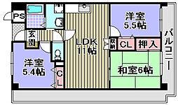 ドミール川崎[107号室]の間取り