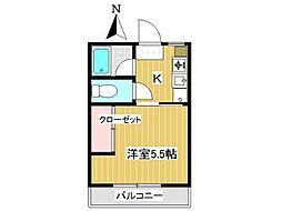 東京都三鷹市下連雀3丁目の賃貸アパートの間取り