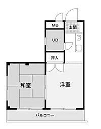 メイプルハウス町田[201号室]の間取り