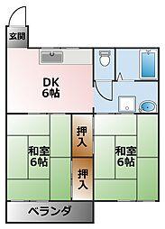 アネックス甲子園三番町[2階]の間取り