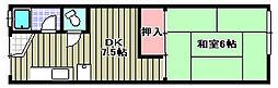 キムラアパートメント[12号室]の間取り
