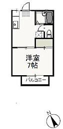 岡山県岡山市北区宿の賃貸アパートの間取り