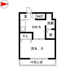 アプニール新瑞[4階]の間取り