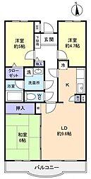 フロイデ勝田台弐番館[1階]の間取り